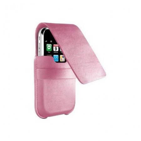 DLO - Philips SlimFolio Leather Case for iPhone 3rd Gen & iPod touch 1st & 2nd Gen (Pink)