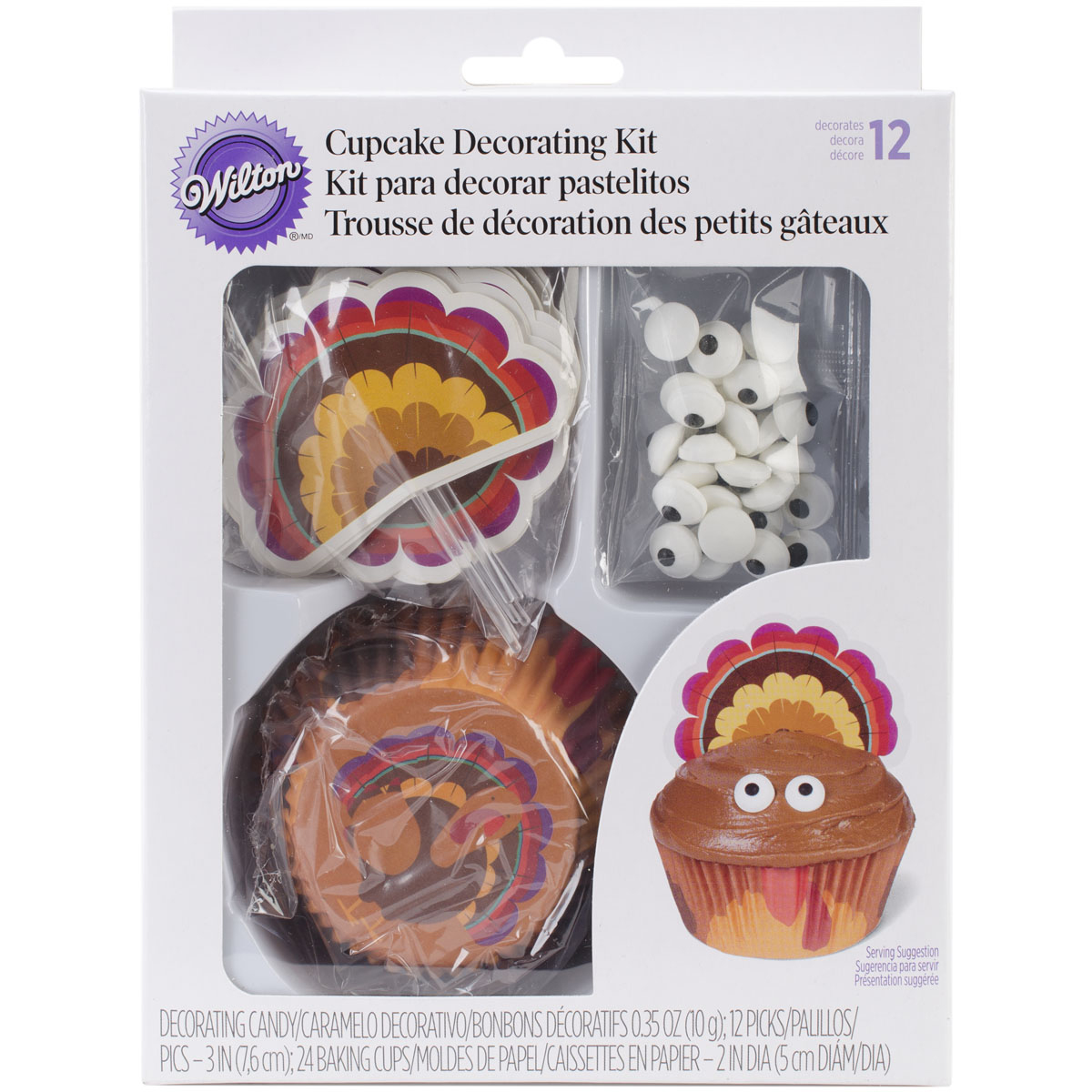 Wilton Cupcake Decorating Kit, Turkey 24 ct. 415-1989