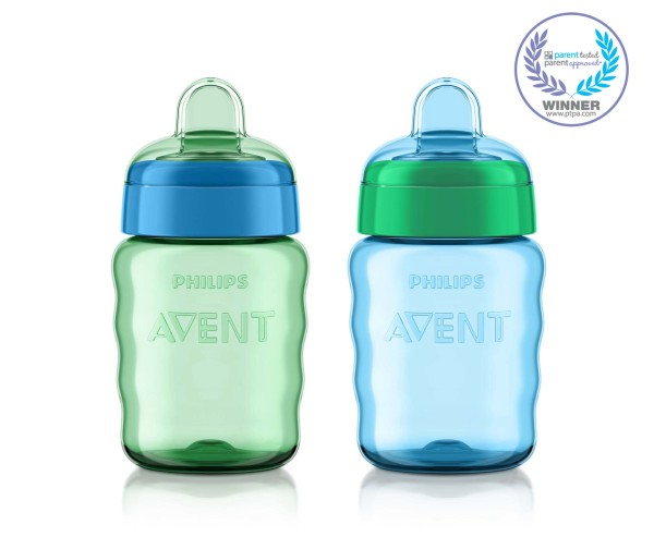 9 Oz 9m Philips Avent My Easy Sippy Cup Soft Flexible Spout 2 Ct Blue//Green