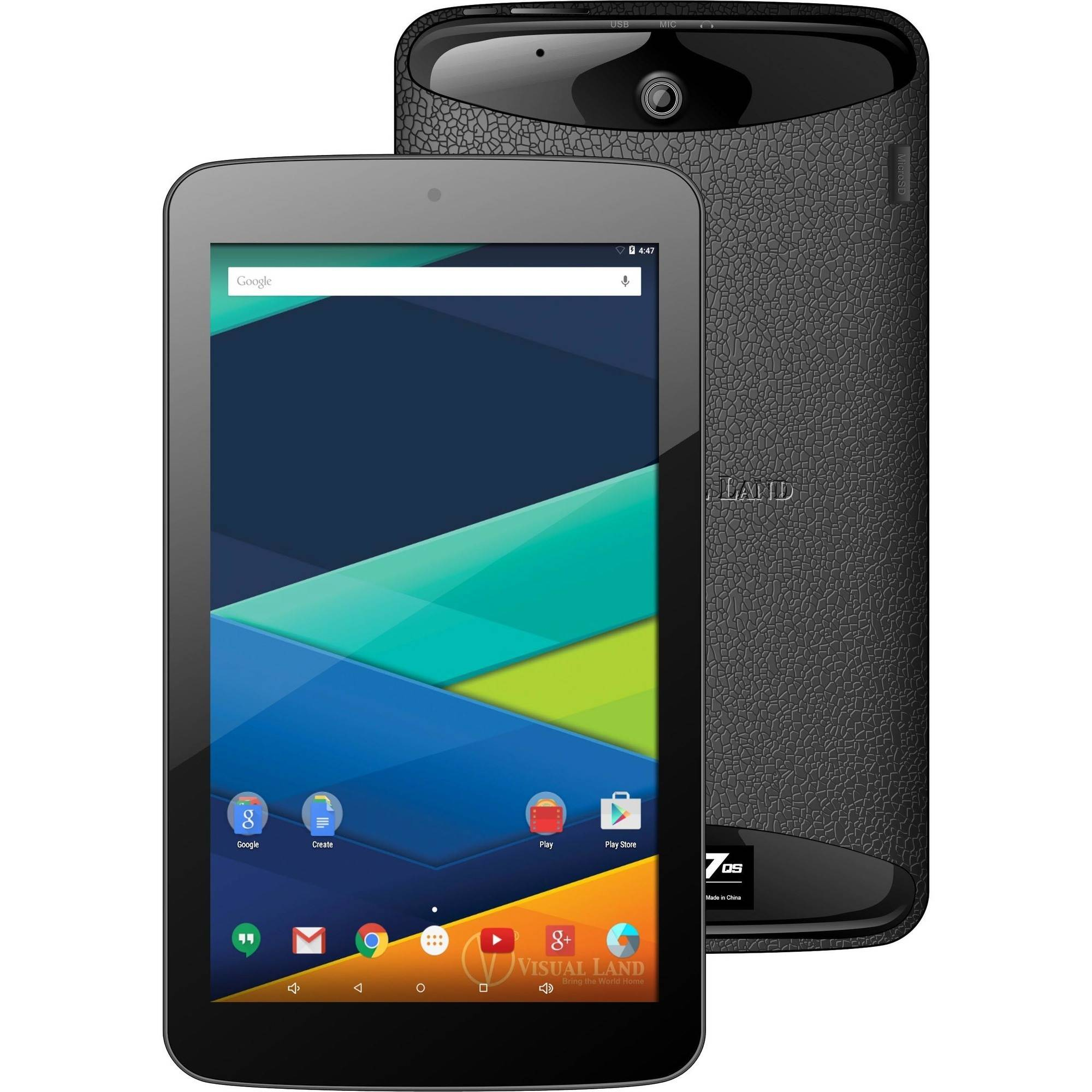 "Visual Land Prestige 7"" Quad Core Slim Tablet 8GB Android 5.0 OS"