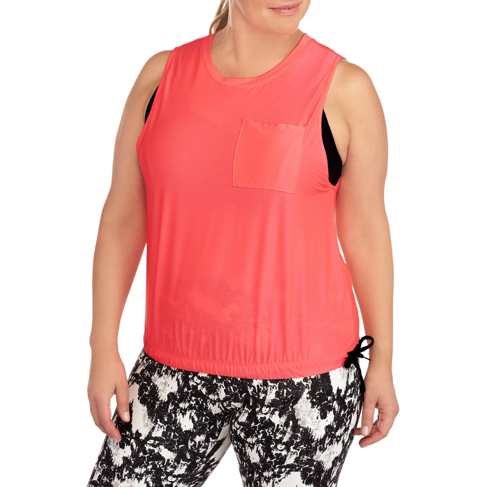 Women's Plus-Size  Ribbed Top With Reflective And Draw Cord