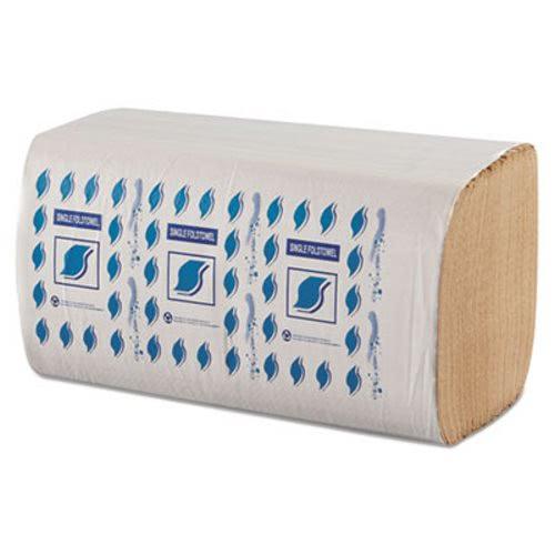GEN SF5001K Single Fold Paper Towels, Brown, 4,008 Towels (GENSF5001K)