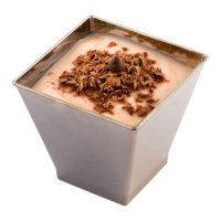 Mini Dessert Tumbler, Dessert Cup, Square Plastic Cup - Silver - 2 oz - Disposable - 100ct Box - Kova