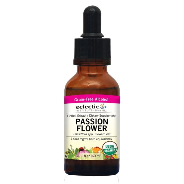 Passion Flower Extract Eclectic Institute 2 Oz Liquid Walmart Com Walmart Com