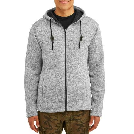 George Men's Full Zip Sherpa Sweater Fleece, up to Size 5XL ()