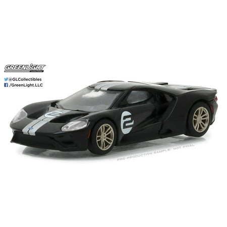 Greenlight 1:64 2017 Ford GT Racing Heritage Series (Black) 1966 #2 Ford MKII