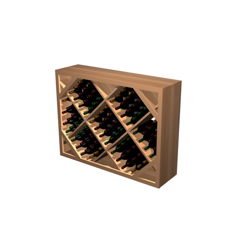 Wine Cellar Innovations Designer Series 132 Bottle Diamond Bin Below Arch Wine Rack
