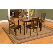 Alpine Furniture Capitola Wood 5 Piece Dining Set in Espresso