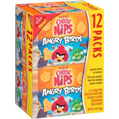 Mondelez Cheese Nips  Snack Crackers, 12 ea