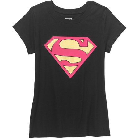 Supergirl Girls' Short Sleeve Crew Neck Graphic - Superman And Supergirl