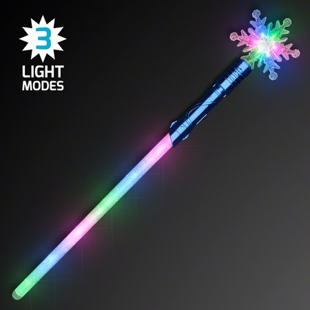 FlashingBlinkyLights Snowflake Magic Light Staff LED Saber (Led Saber)