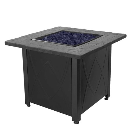 - Blue Rhino Endless Summer Outdoor Propane Gas Lava Rock Patio Fireplace Fire Pit