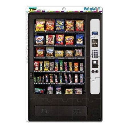 Graphics and More Snack Vending Machine Mag-Neato's Novelty Gift Locker Refrigerator Vinyl Puzzle Magnet
