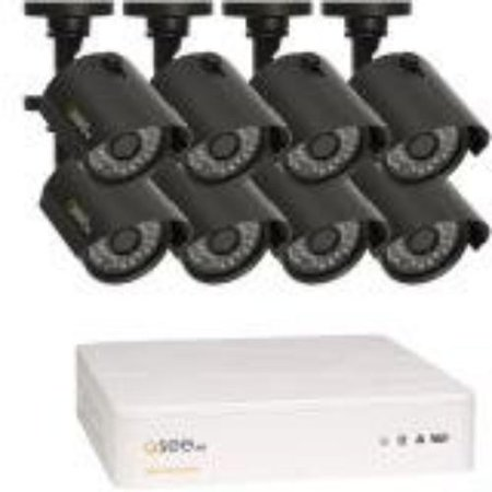 Q-see Video Surveillance System - Camera, Digital Video Recorder - H.264 Formats - 1 Tb Hard Drive - 240 Fps - 720 - Composite Video In - 1 - 1 - 1 - Hdmi (qth8-8z3-1)