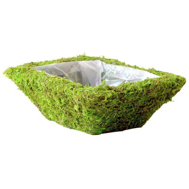 Super Moss 55050 Square Monterey Moss Basket - Case of 12