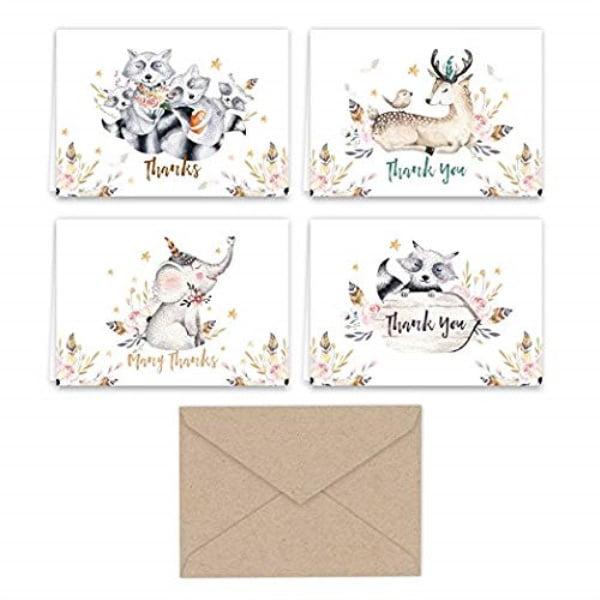 Space Animals Die Cut Flat Card