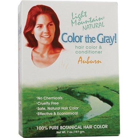 - Light Mountain Hair Color, Color the Grey Auburn, 7 Oz