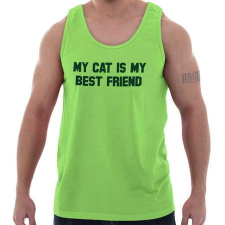 Brisco Brands My Cat Is My BFF Best Friend Unisex Jersey Tank Top