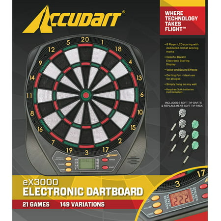 - Accudart Electronic Dartboard - 21 Games with LCD Display