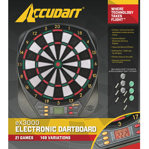 Accudart Electronic Dartboard - 21 Games with LCD Display