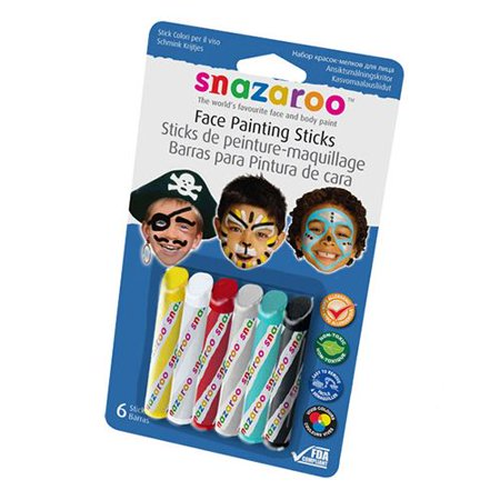 Red White And Blue Face Painting Ideas (Snazaroo Boy's Face Painting Crayons (6)
