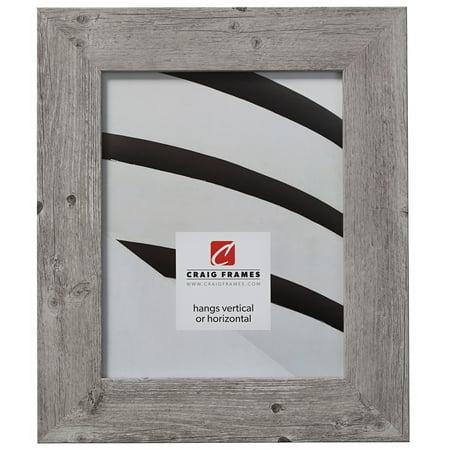 Craig Frames American Barn, Faux Barnwood Picture Frame, Light Grey Oak, 12 x 16 Inch ()