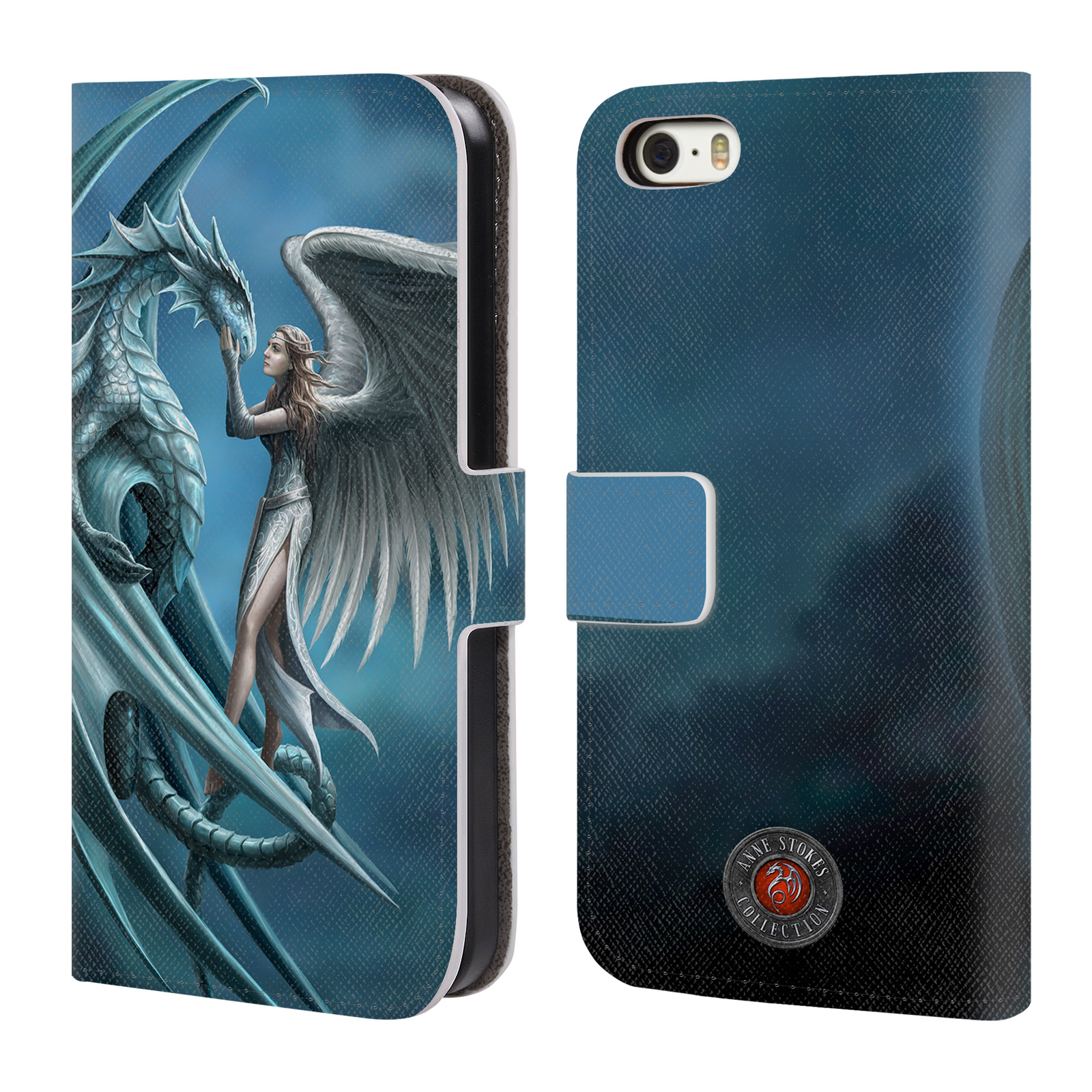 OFFICIAL ANNE STOKES DRAGON FRIENDSHIP LEATHER BOOK WALLET CASE COVER FOR APPLE IPHONE PHONES