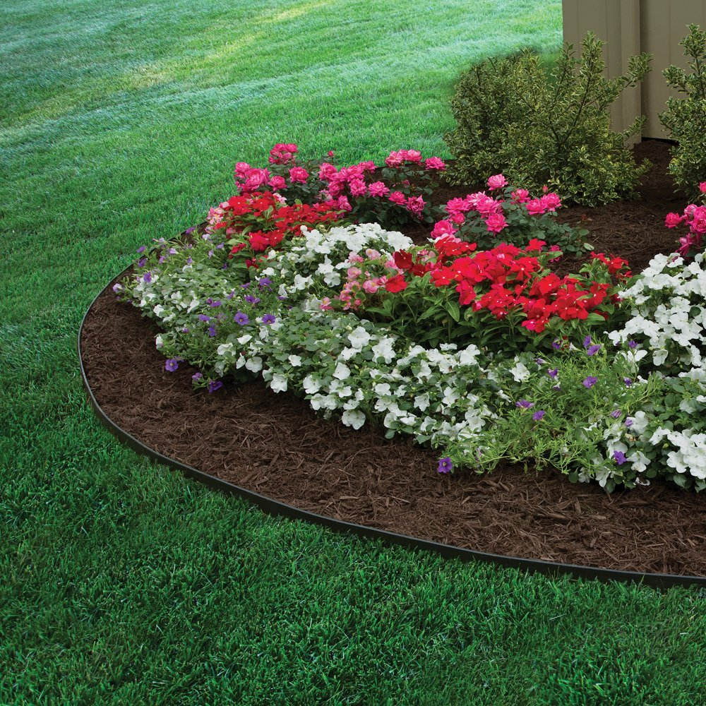 Edgepro Plastic Heavy Duty No Dig Landscape Edging Kit 20 Feet 3100 20c 6 Absolutely No Dig Lawn Edging That Allows For Many Landscape Ideas And Applications Quick By Dimex Walmart Com Walmart Com