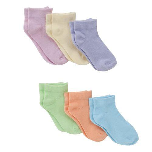 Fruit of the Loom Baby Girls' Ankle Socks, 6 Pack