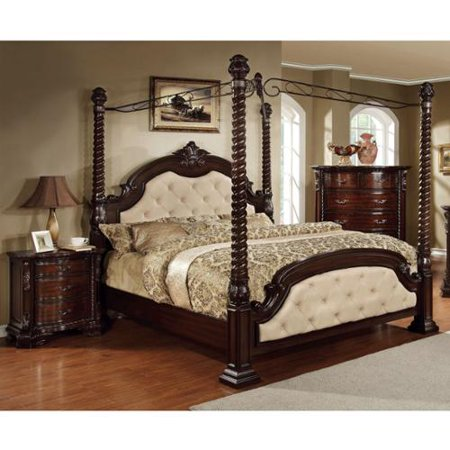 Furniture of America Kassania Traditional 2-piece Poster Canopy Bedroom Set ()