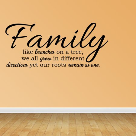 Wall Decal Quote Family Like Branches On A Tree We All Grow In Different