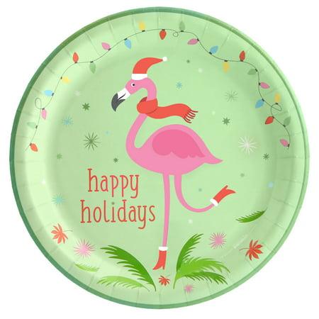 Flamingo Cheer Dinner Plate (8 - Fiestaware Flamingo