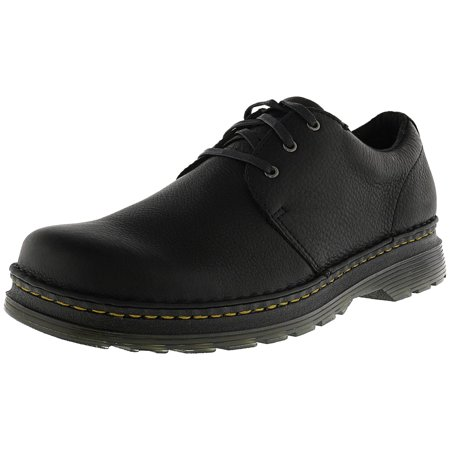 Dr. Martens Men's Hazeldon Grizzly Leather Loafer Black Ankle-High - 10M - Kids Red Dr Martens