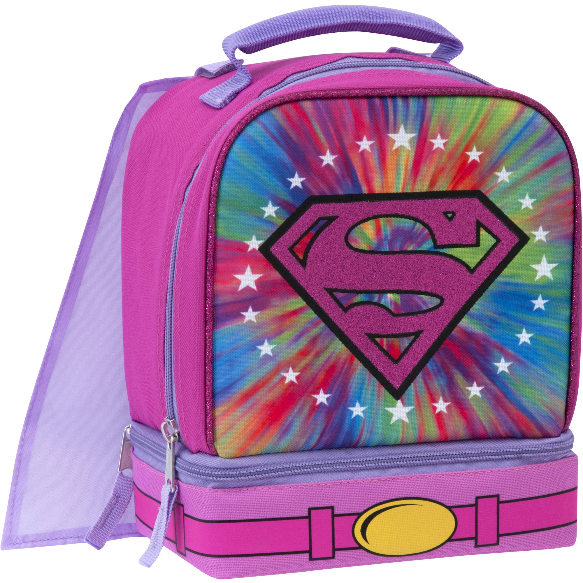 DC Super Hero Girls Super Girl Insulated Dual Compartment Lunch Bag