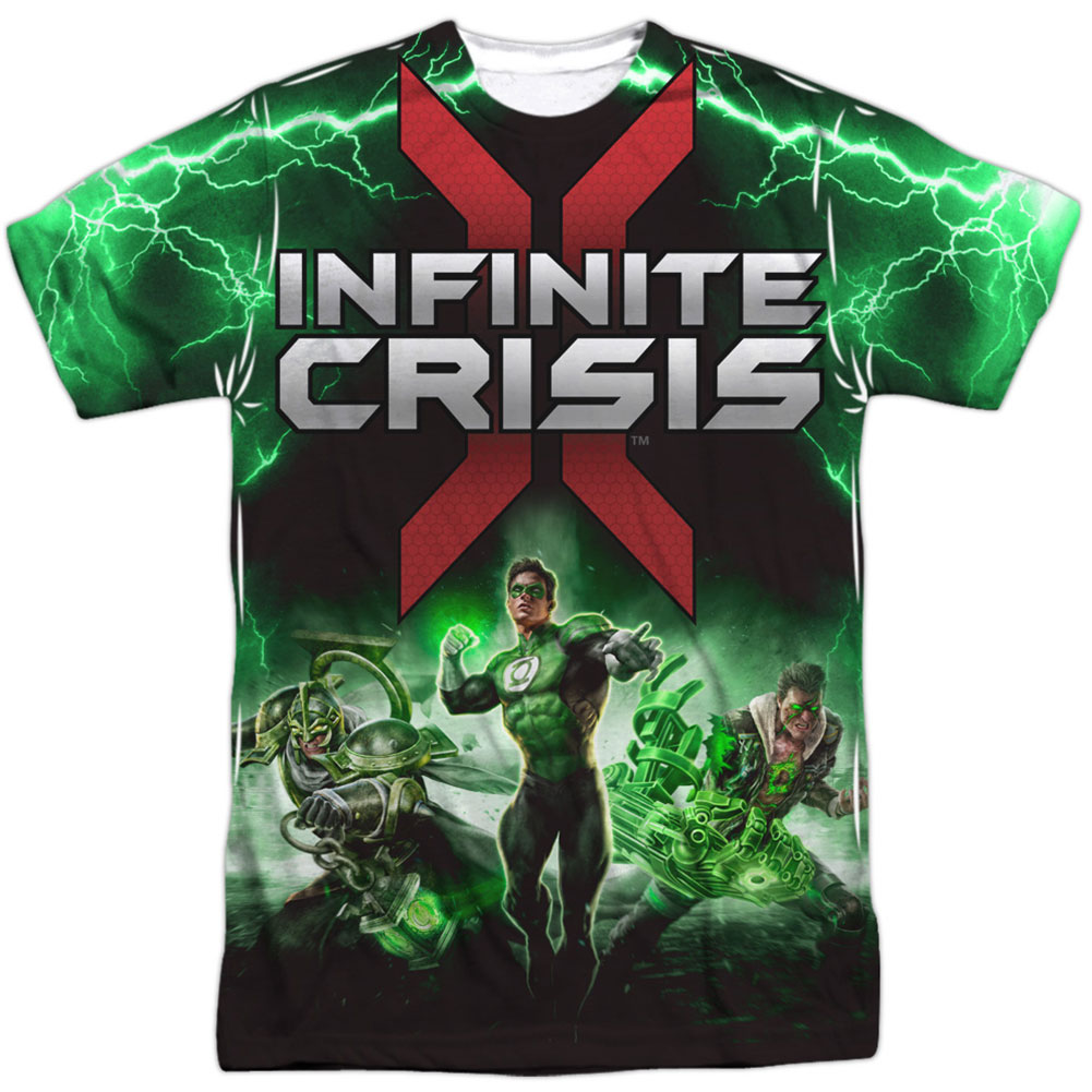 Infinite Crisis Men's  Ic Green Lantern Sublimation T-shirt White