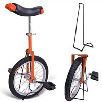 """Bright Orange 18 Inch In 18"""" Mountain Bike Wheel Frame Unicycle Cycling Bike With Comfortable Release Saddle Seat"""