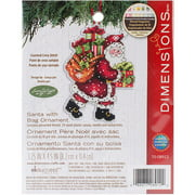 "Susan Winget Santa with Bag Ornament Counted Cross-Stitch Kit, 3-1/2"" x 4-3/4"""