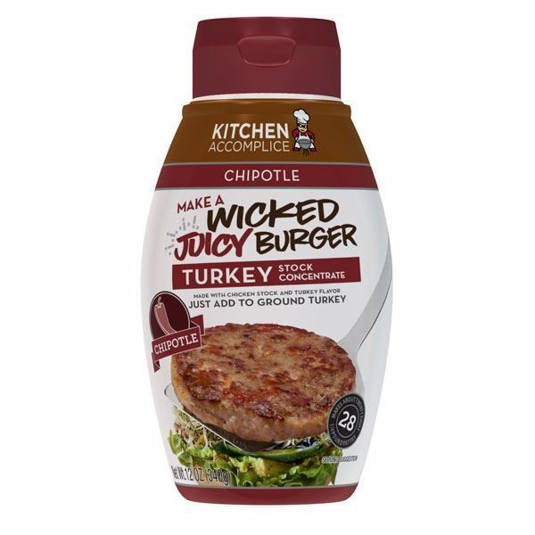 Kitchen Accomplice Wicked Juicy Chipotle Turkey Burger Concentrate (6x12 OZ ) by Kitchen Accomplice