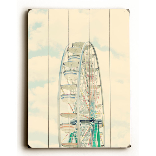 Wrought Studio 'Ferris Wheel and Sky' Wall Art