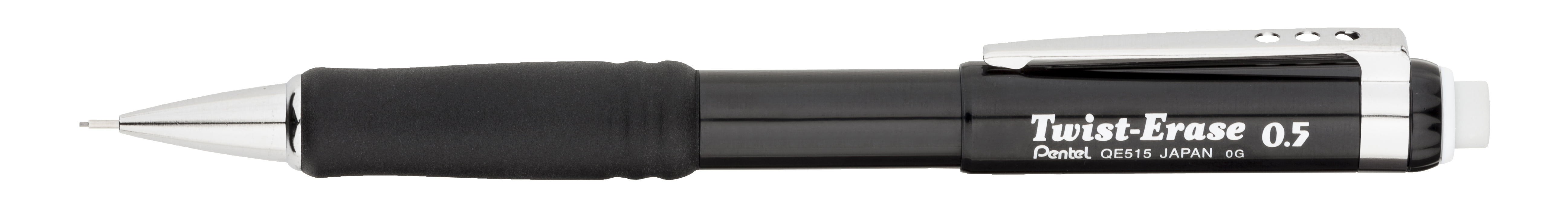 Pentel Twist-Erase III Mechanical Pencil (0.5mm), Black Barrel