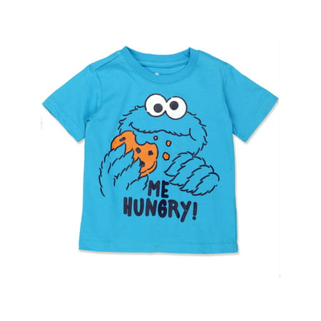 Sesame Street Cookie Monster Baby Toddler Boys Short Sleeve Tee ASCC402](Sesame Street Headband)