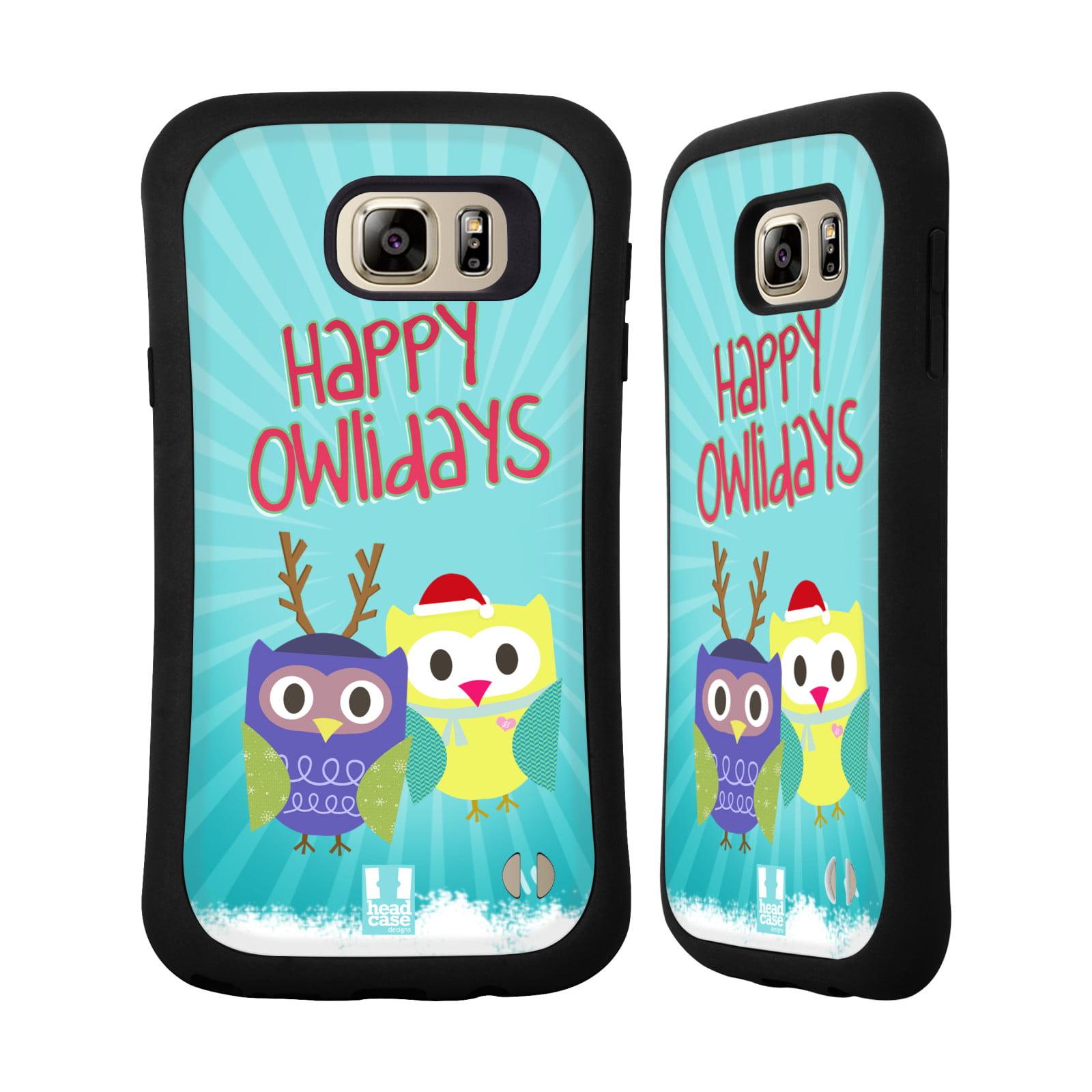 HEAD CASE DESIGNS OWL XMAS HYBRID CASE FOR SAMSUNG PHONES