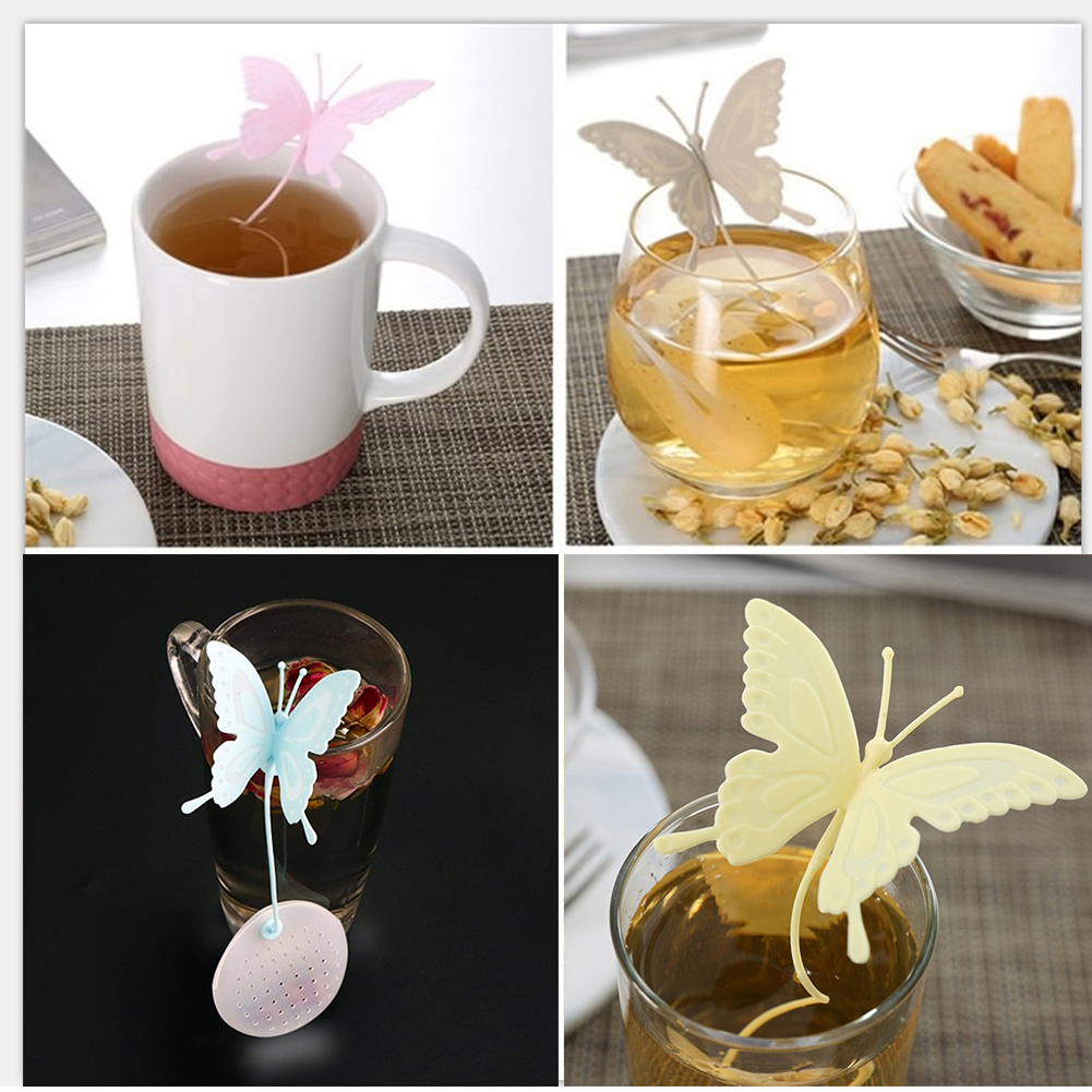 Micelec Silicone Butterfly Shaped Tea Infuser Strainer Tea Filter Gift for Tea Lover