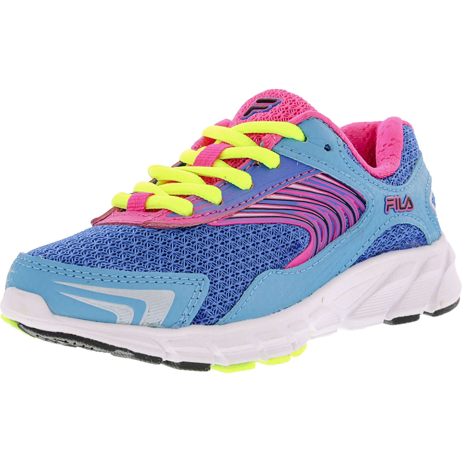 Fila Maranello 3 Electric Blue Lemonade   Atlantic Pink Glow Ankle-High Fashion Sneaker 13M by Fila