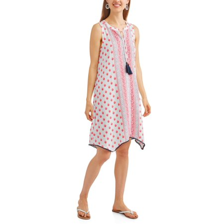 Women's Woven Handkerchief Hem Dress (Dress With Handkerchief Hem)