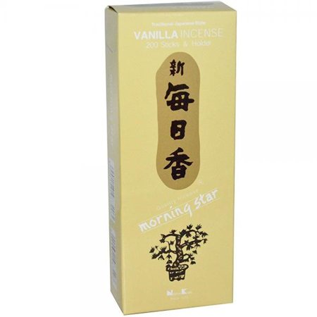 morning star - vanilla 200 sticks and holder by nippon kodo, japanese quality incense, since 1575