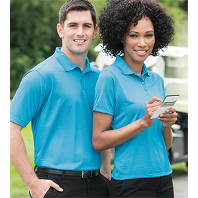 Bermuda Sands 755 Mens Shadow Performance Polo - Turquoise, 3X