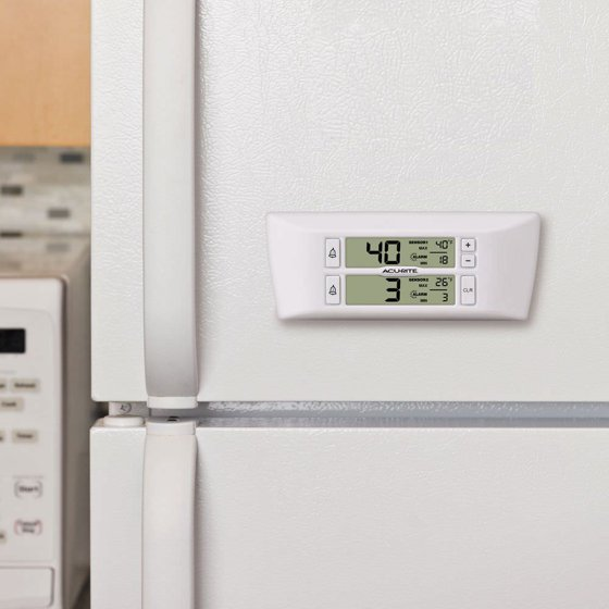 Digital Refrigerator and Freezer Thermometer with Temperature Alerts