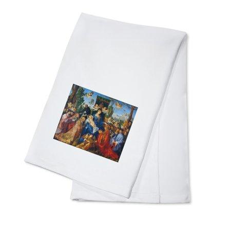 Feast of Rose Garlands - Masterpiece Classic - Artist: Albrecht Durer c. 1506 (100% Cotton Kitchen Towel)