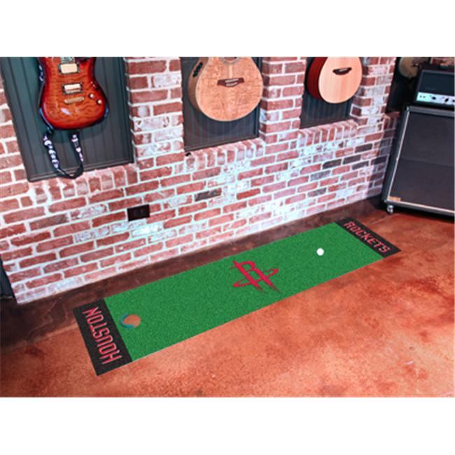 FANMATS 9277 Houston Rockets Putting Green Runner 24 in. x 96 in.
